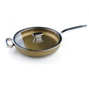 Глубокая сковорода 28 см c крышкой (стекло) Zanussi Capri ZCU51231DF