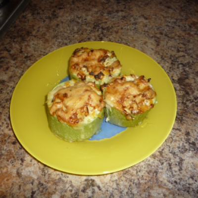 Запеченные кабачки с грибами по домашнему рецепту