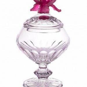 Конфетница 28 см Iris Rose Cristal de Paris CDP3701