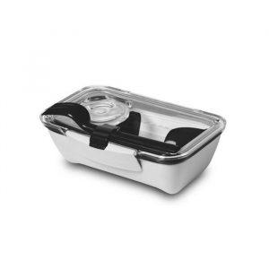 Ланч-бокс Bento Box черно-белый BT008