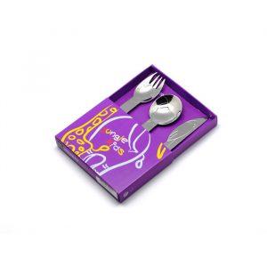 Набор детских столовых приборов (3 предмета / 1 персона) Herdmar JUNGLE 170600300215600000