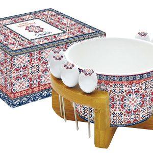 Набор для закуски: салатник для оливок + 8 шпажек на подставке Мавритания Easy Life AL-48215