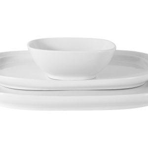 Набор Форма белый: 2 тарелки + салатник в подар.упаковке Maxwell & Williams 57705