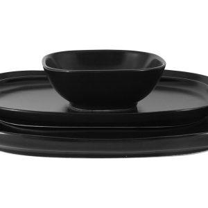 Набор Форма чёрный: 2 тарелки + салатник в подар.упаковке Maxwell & Williams 57708