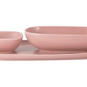 Набор Форма розовый: тарелка + 2 салатника в подар.упаковке Maxwell & Williams 57710