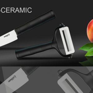 Набор керамический BAMBOO Фруктовый нож и овощечистка Samura Eco-Ceramic SKC-012