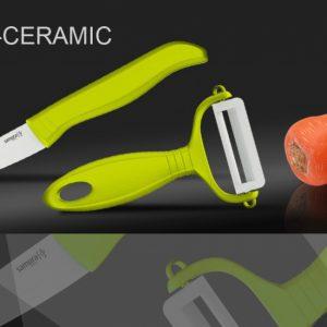 Набор керамический Фруктовый нож и овощечистка Samura Eco-Ceramic SKC-011GR