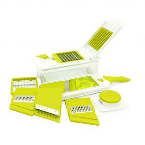 Овощерезка + терка с контейнером - набор из 11 предметов Fissman 8643