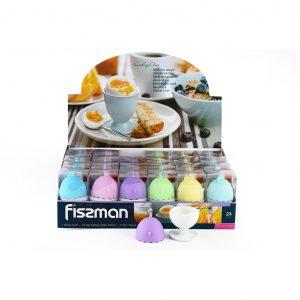 Подставка для яйца 5 см с силиконовой крышкой Fissman 7517