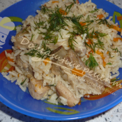Рассыпчатый плов со свинины на сковороде