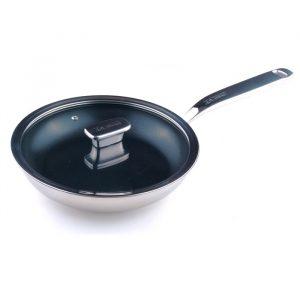 Сковорода 24 см c крышкой (стекло) Zanussi Positano ZCF43411AF