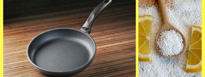 Как очистить тефлоновую сковороду от нагара снаружи и внутри
