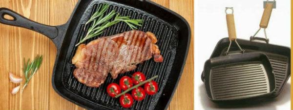 Сковорода-гриль: виды и применение
