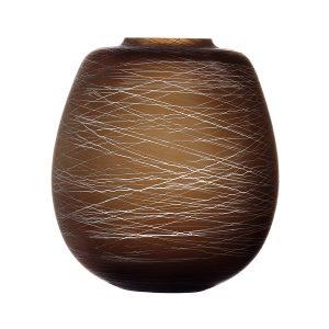 Ваза Boulder 26 см коричневая LSA International G1607-26-154